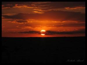 coucher de soleil sahara