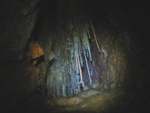 concrétion grotte de la mine
