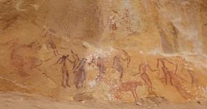 Peintures Rupestres : scene de chasse Ain Khanfous Crédit photo destination-tunis.fr