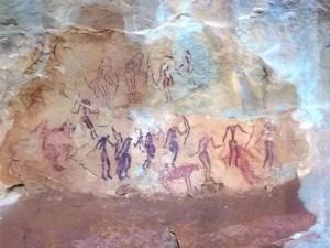 peintures rupestres djebel Oueslat