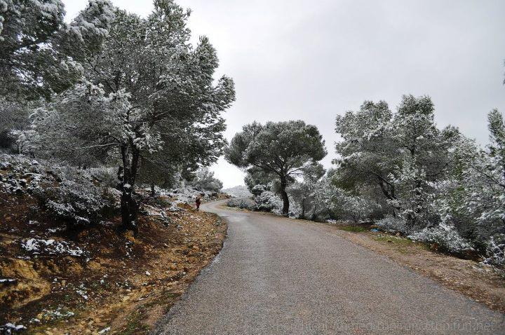neige route de bargou