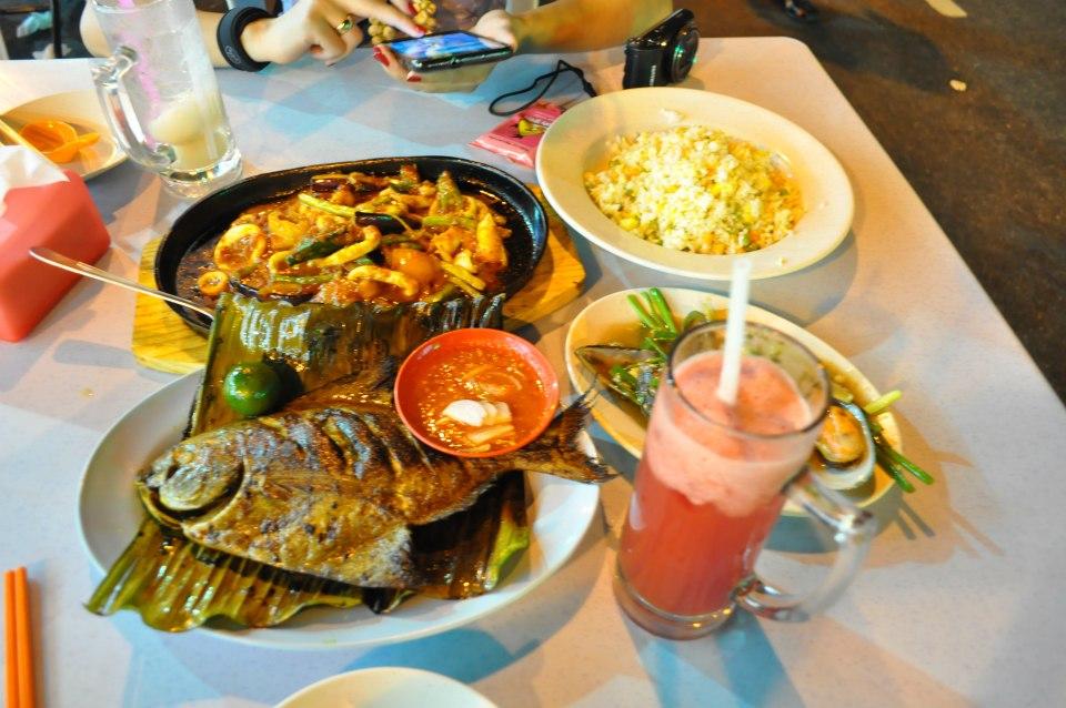 diner chez meng Kee Grill Fish