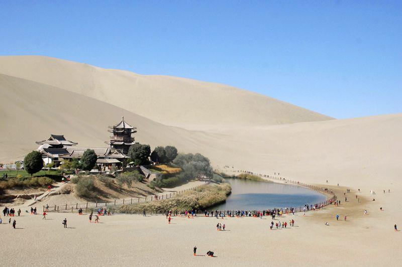 Dunhuang oasis en Chine