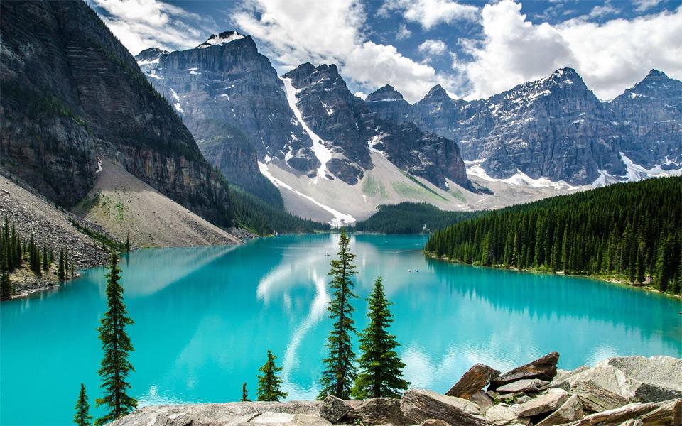 Moraine Lake au Canada