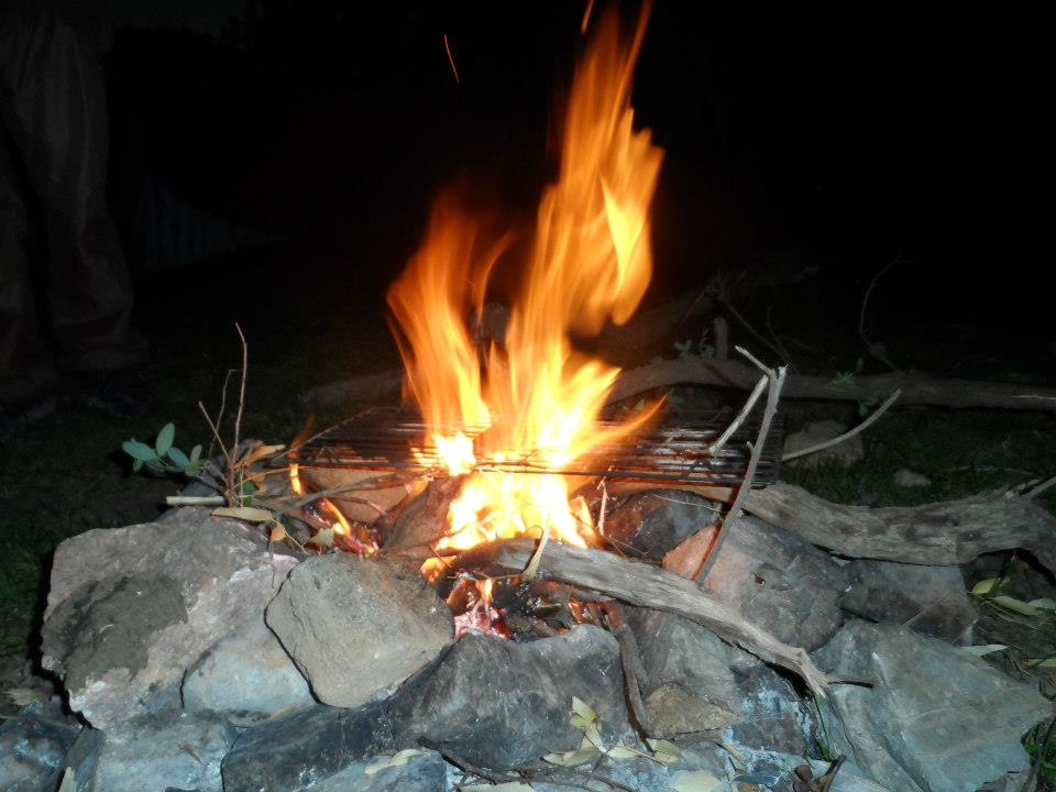 Feu camping Tunisie