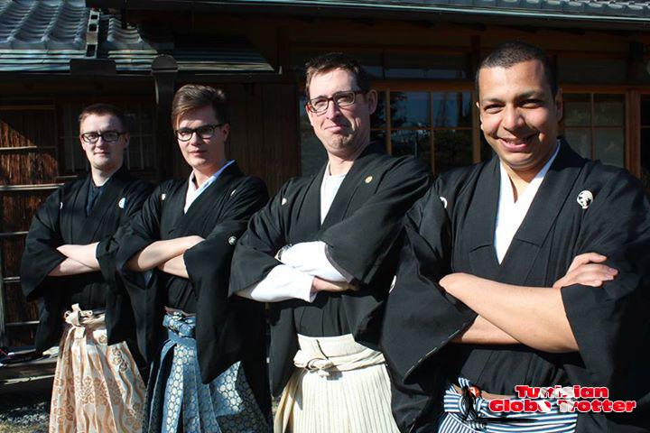 Samurais kimono japon