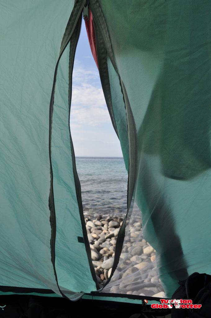 tente Galite vue sur mer